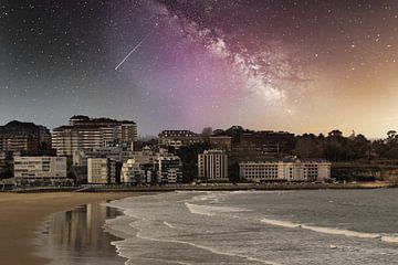Santander Spain night full of stars van Faucon Alexis