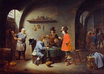 Glücksspielszene in einem Gasthaus, David Teniers II