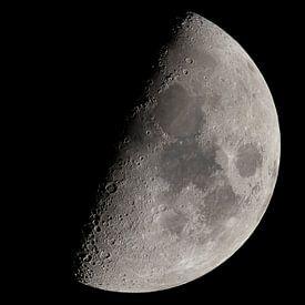 Maan gedetailleerd van Ben Bokeh