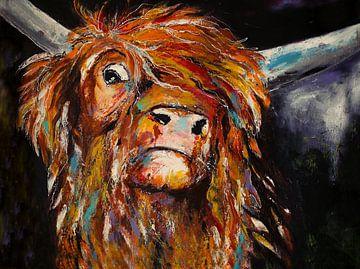 scottie... ( schilderij van een schotse hooglander sur Els Fonteine