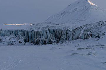 Le glacier Paulabreen sur le Svalbard sur Kai Müller
