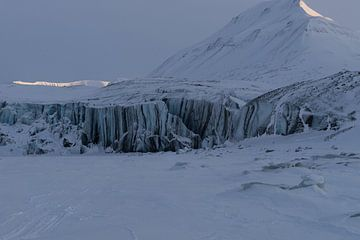 Paulabreen-gletsjer op Spitsbergen van Kai Müller
