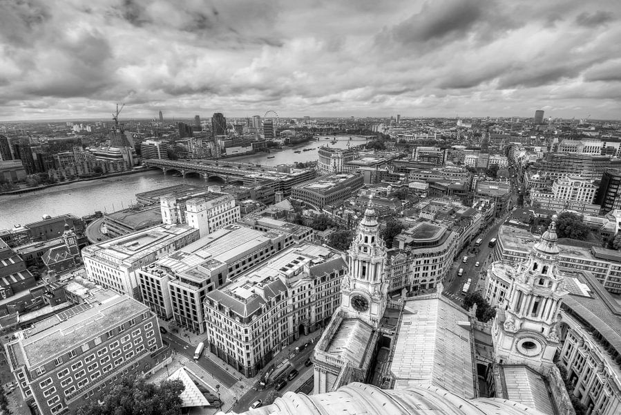 Uitzicht vanaf St. Paul's Cathedral op Londen