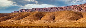 Öde Hügel im Mittleren Atlas, Marokko von Rietje Bulthuis