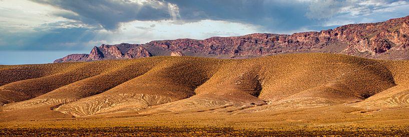 Kale heuvels in de Midden-Atlas, Marokko van Rietje Bulthuis
