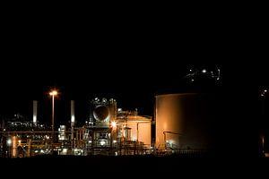 Petrochemie in de nacht