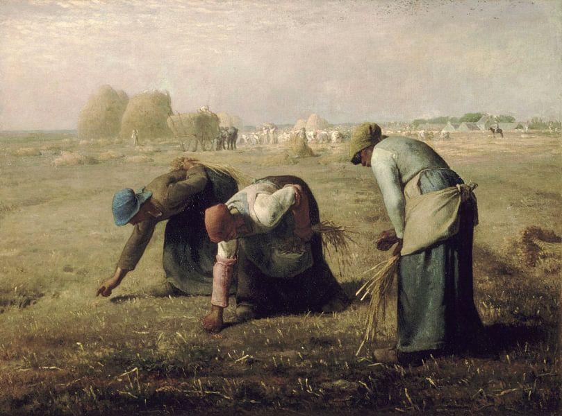 Die Erntemaschinen, Jean-François Millet von Meesterlijcke Meesters