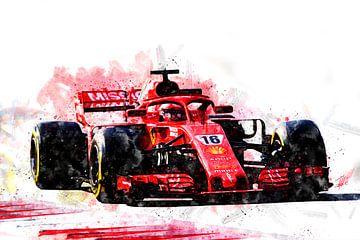 Charles Leclerc Ferrari van Theodor Decker