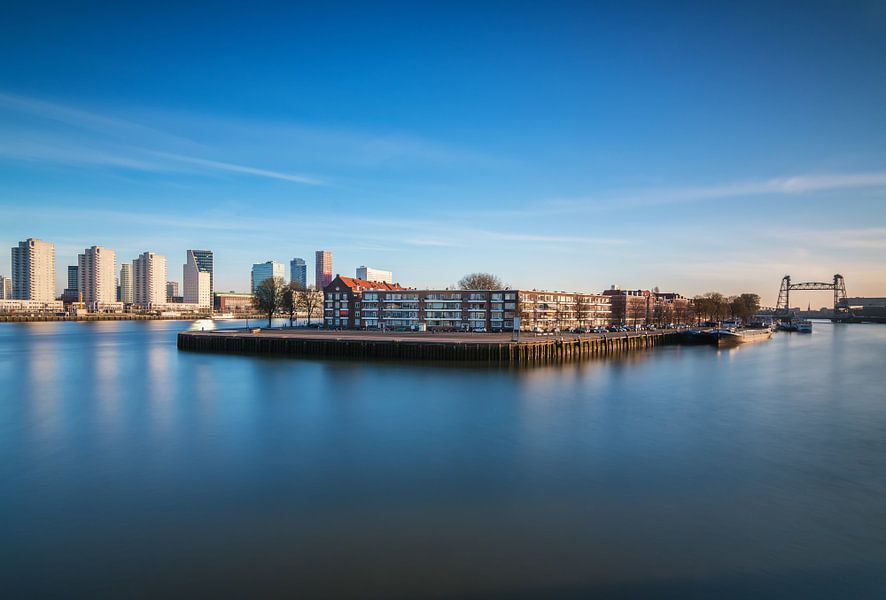 Noordereiland in Rotterdam van Ilya Korzelius