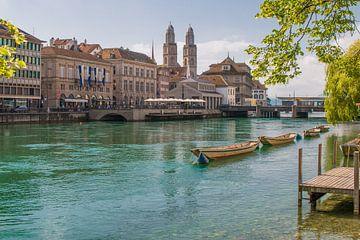 Limmat, Zürich, Zwitserland van Max Nicolai