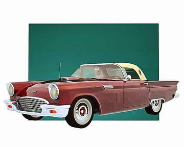 Klassieke auto – Oldtimer Ford Thunderbird met dak