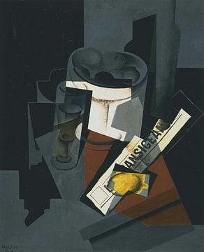 Juan Gris, Stilleben mit Zeitung - 1916 von Atelier Liesjes