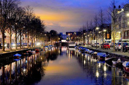 Avondgloed in Den Haag van