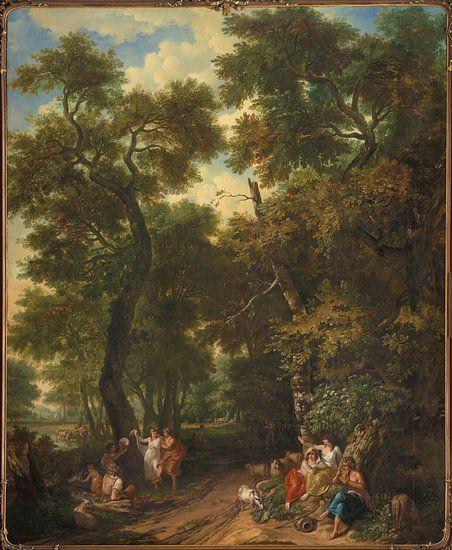 Arcadisch landschap met musicerende en dansende herders, Jurriaan Andriessen