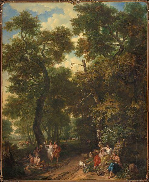 Arcadisch landschap met musicerende en dansende herders, Jurriaan Andriessen van Meesterlijcke Meesters