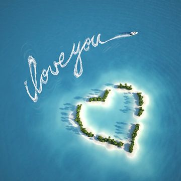 Liebeserklärung auf dem Wasser von Henny Hagenaars