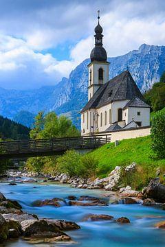 Église Saint-Sébastien, Ramsau, Berchtesgaden, Allemagne sur Henk Meijer Photography