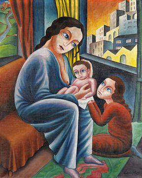 Stillende Mutter, Georg Schrimpf, 1919 von Atelier Liesjes