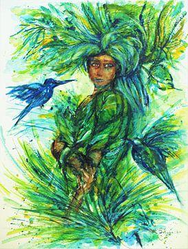 Juffertje in het groen. van Ineke de Rijk