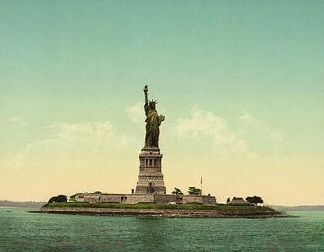 Statue of Liberty, New York Harbor sur Vintage Afbeeldingen