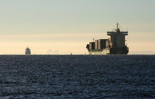 Containerschip op Oosterschelde van MSP Photographics