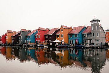 Farbiger Yachthafen von Groningen von Eugenlens