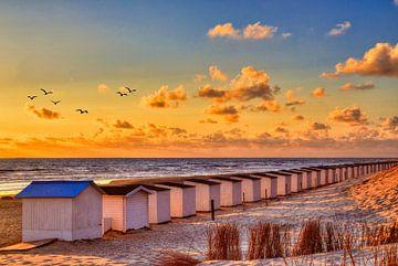 Zonsondergang Paal 9 Texel van Watze D. de Haan