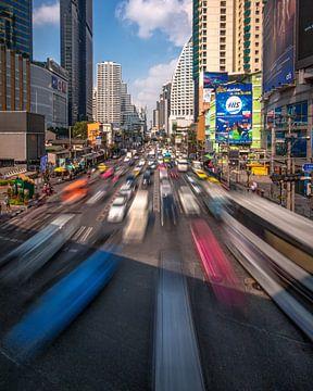 Bangkok traffic van