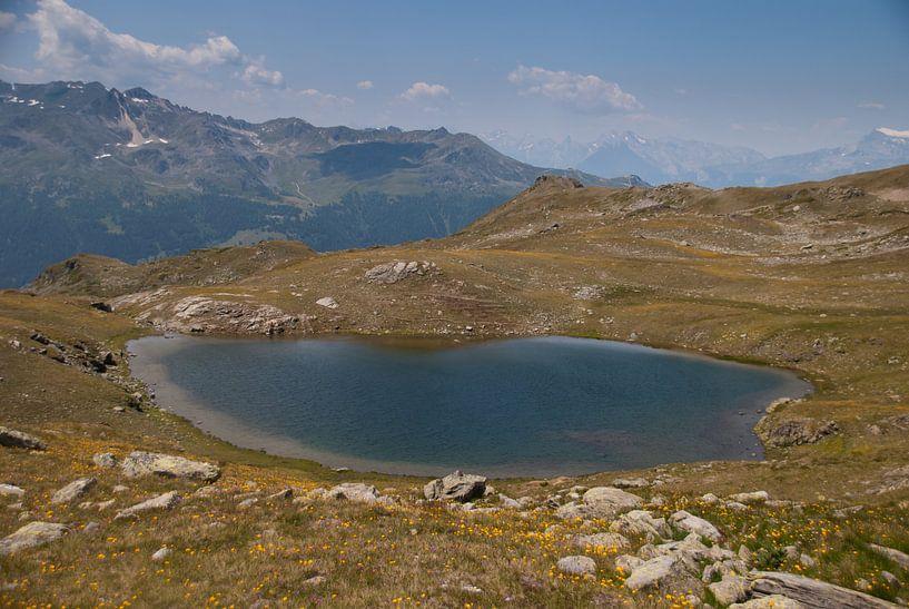 Meer in de bergen van Manuel Declerck