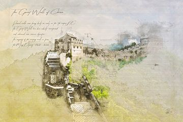 Grote Muur van China, China van Theodor Decker