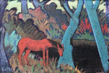 Zigeunerpferd am schwarzen Wasser anagoria, Otto Mueller - 1928 von Atelier Liesjes