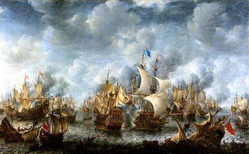Seeschlacht bei Scheveningen Terheide - Jan Abrahamsz von 1000 Schilderijen