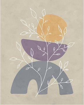 Minimalistisches Design mit einer Blattpflanze von Tanja Udelhofen