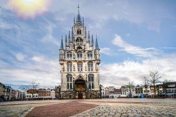 Het oude stadhuis van Gouda aan de Markt von Ineke Huizing