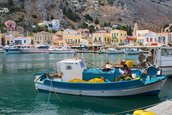 Vissershaven in Griekenland