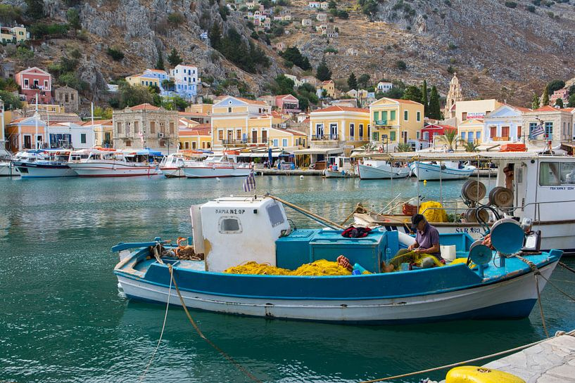 Vissershaven in Griekenland van Lifelicious