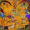 abstracte canvas muurschildering van EL QOCH thumbnail