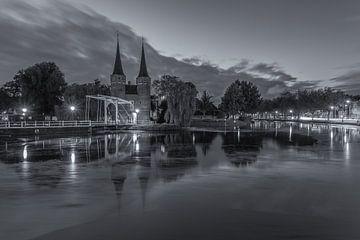 Oostpoort Delft, zwart-wit - 6 van