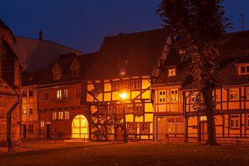 Oude stad, Quedlinburg; Harz gebergte, Saksen-Anhalt van Torsten Krüger