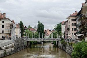 Cobblers' Bridge, Slovenia van Willem van den Berge