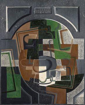 Stilleben mit Tafel, Juan Gris
