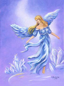 Kristallen Engel - handgeschilderde engel kunst van Marita Zacharias