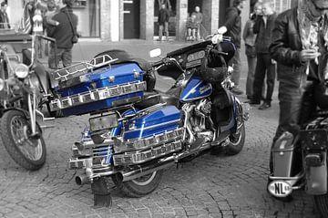 Blaue Elektrik von harley davidson