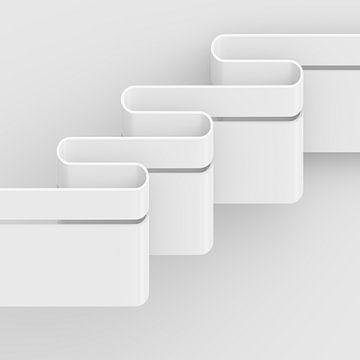 Horizontale golven vierkant van Jörg Hausmann