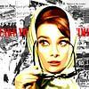 """Audrey Hepburn - """"Fünfziger Jahre"""". von Jole Art (Annejole Jacobs - de Jongh) Miniaturansicht"""
