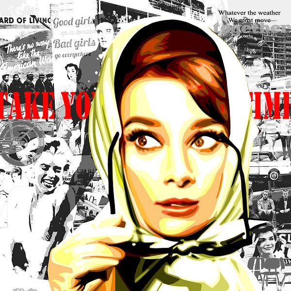 """Audrey Hepburn - """"Fünfziger Jahre"""". von Jole Art (Annejole Jacobs - de Jongh)"""
