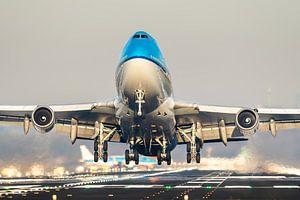 KLM Boeing 747 take-off vanaf Schiphol
