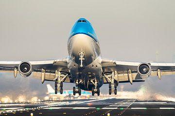 KLM Boeing 747 take-off vanaf Schiphol van