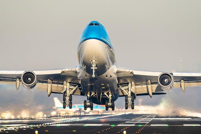KLM Boeing 747 take-off vanaf Schiphol van Dennis Janssen