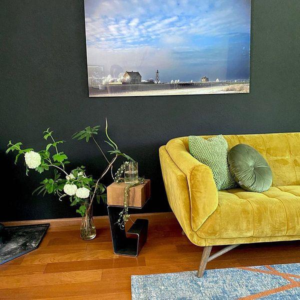 Klantfoto: Schokland van Michel van Rooijen, op aluminium